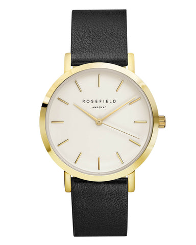 Montre Rosefield The GRAMERCY White Black Gold GWBLG-G32