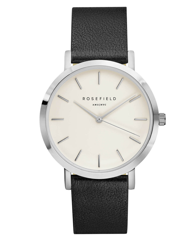Montre Rosefield The GRAMERCY White Black Silver GWBLS-G33