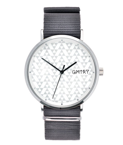 Montre GMTRY The Polygon Series White Gris (+2ème bracelet au choix) - PRECIOVS