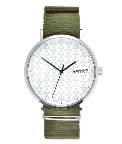 Montre GMTRY The Polygon Series White Vert (+2ème bracelet au choix) - PRECIOVS
