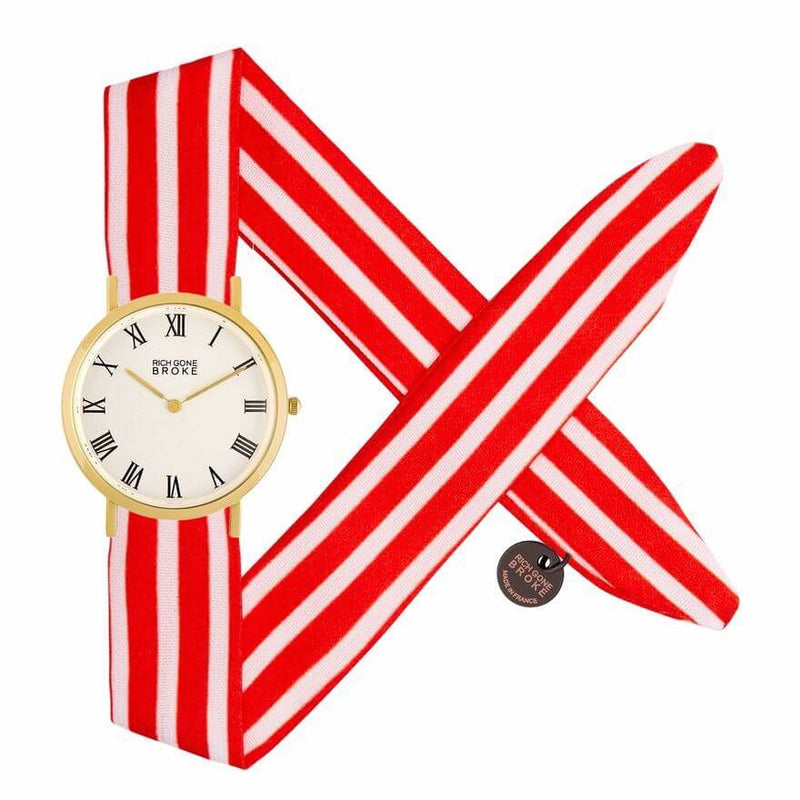 Montre RICH GONE BROKE Gold Marcel Red Stripes - PRECIOVS