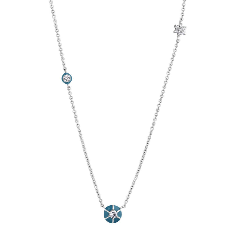Collier I.Ma.Gi.N Jewels Co joyful blue silver - PRECIOVS