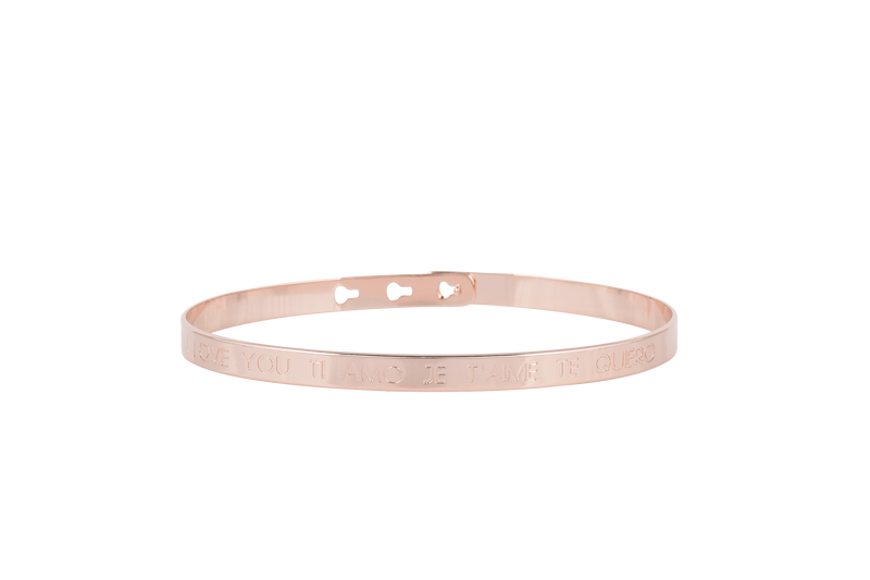 "Bracelet MYA BAY ""JE T'AIME I LOVE YOU TI AMO TE QUIERO"" JC-03.P - PRECIOVS"