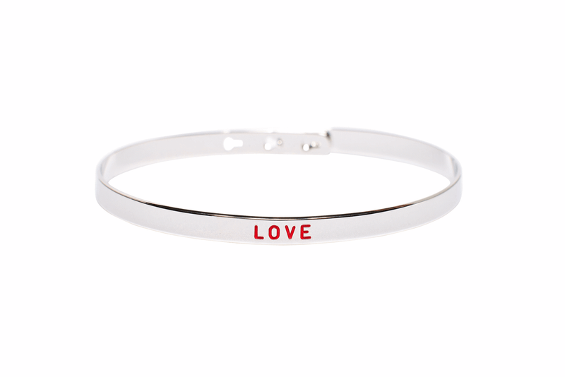 "Bracelet Jonc MYA BAY Painting ""Love"" rouge JC-25 S - PRECIOVS"
