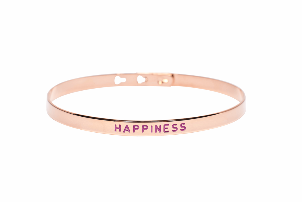 "Bracelet Jonc MYA BAY Painting ""Happiness"" mauve JC-26 P"