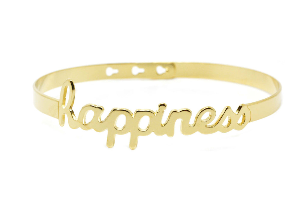 "Bracelet Jonc MYA BAY My Words ""Happiness"" script JC-43 G"