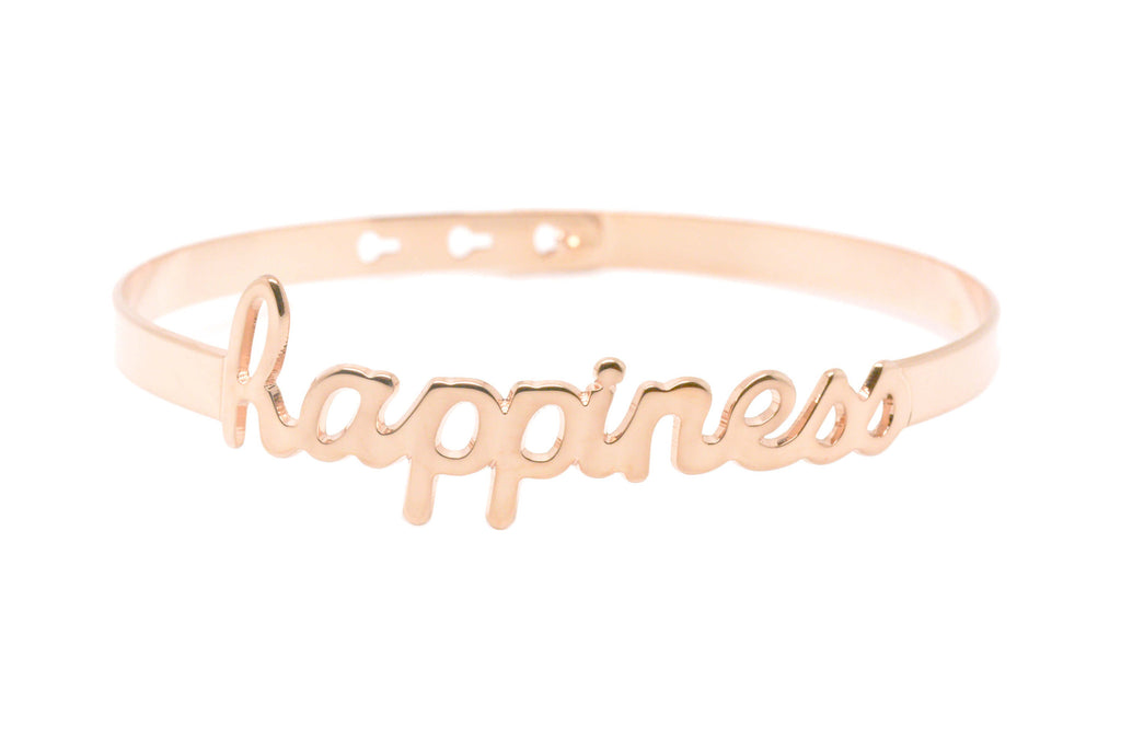 "Bracelet Jonc MYA BAY My Words ""Happiness"" script JC-43 P"