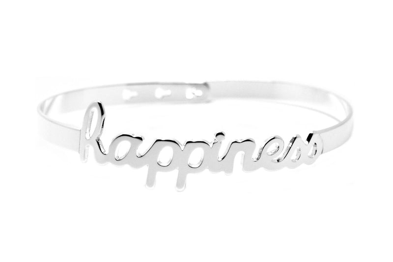 "Bracelet Jonc MYA BAY My Words ""Happiness"" script JC-43 S"