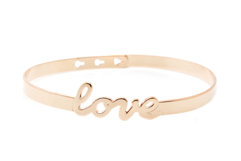 "Bracelet Jonc MYA BAY My Words ""LOVE"" script JC-47.P - PRECIOVS"