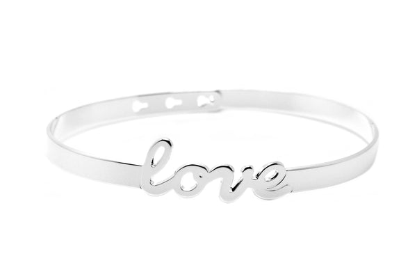 "Bracelet Jonc MYA BAY My Words ""LOVE"" script JC-47.S - PRECIOVS"