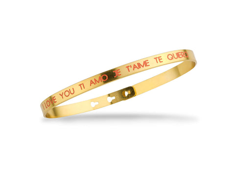 "Bracelet MYA BAY ""LOVE YOU TI AMO JE T'AIME TE QUIERO"" - CORAIL JC-77"