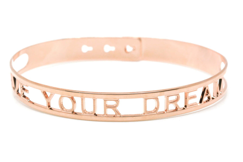"Bracelet Jonc MYA BAY Context ""LIVE YOUR DREAM"" context JX-02.P"