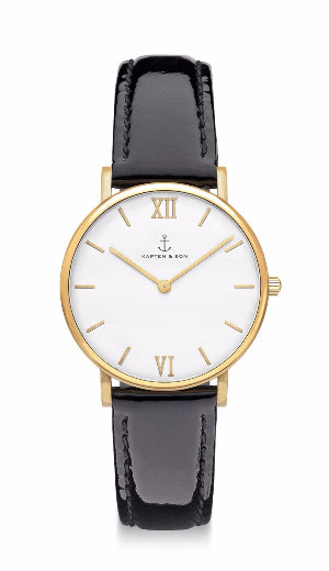 Montre Kapten & Son Joy Black Patent Leather - PRECIOVS