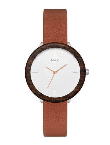 Montre MAM Originals Light Teak Fauve