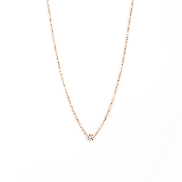 Collier I.Ma.Gi.N Jewels June Diamond Or Rose - PRECIOVS