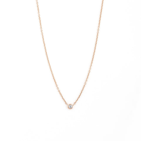 Collier I.Ma.Gi.N Jewels June Diamond Or Rose