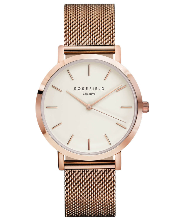 Montre Rosefield The MERCER White Rose Gold MWR-M42 - PRECIOVS