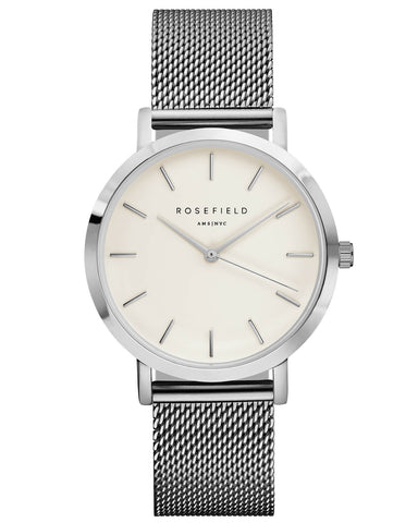 Montre Rosefield The MERCER White Silver MWS-M40