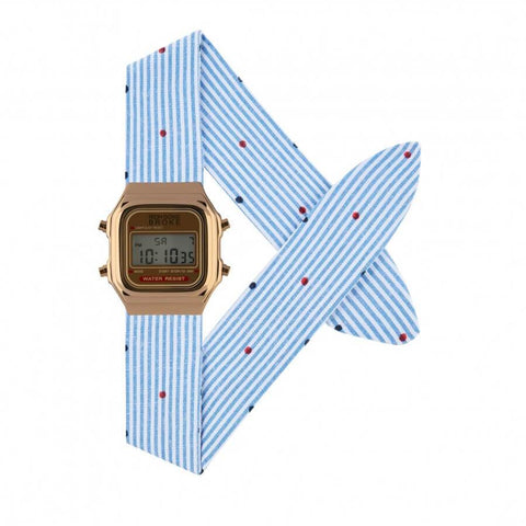 Montre RICH GONE BROKE Rose Gold Digital Navy Pop