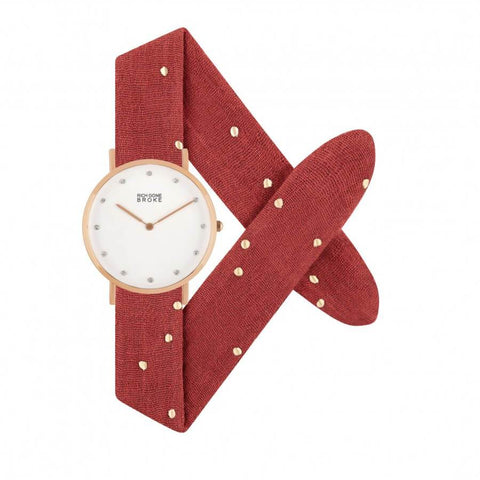 Montre RICH GONE BROKE Rose Gold Marcel Diamond Red Studded