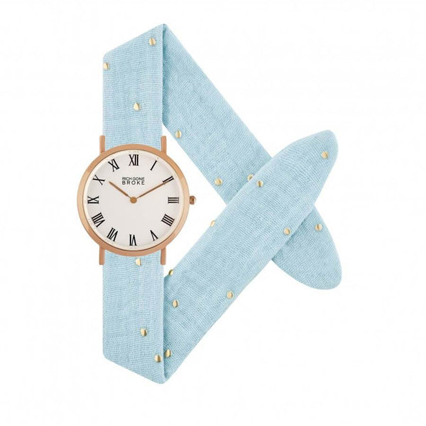 Montre RICH GONE BROKE Rose Gold Marcel Starry Blues - PRECIOVS