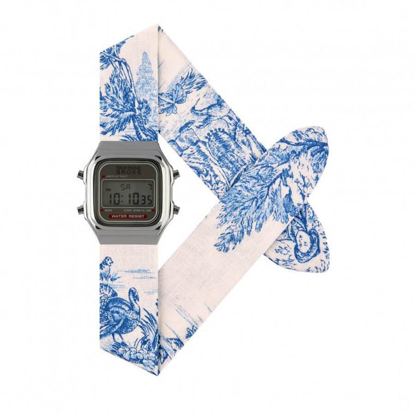 Montre RICH GONE BROKE Silver Digital Blue Jouy - PRECIOVS