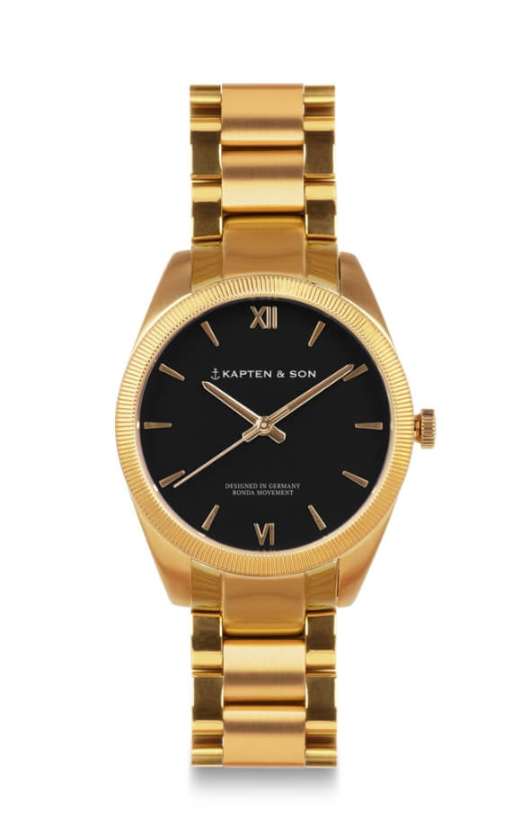 Montre Kapten & Son Crush Gold Black Steel - PRECIOVS