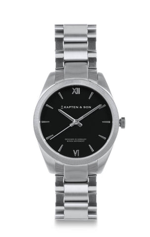 Montre Kapten & Son Crush Silver Black Steel