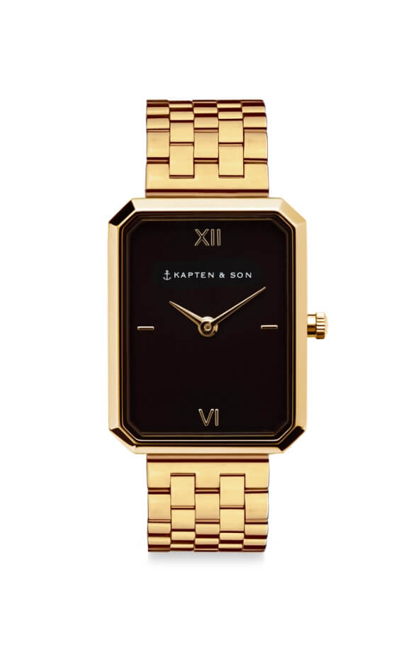 Montre Kapten & Son Grace Gold Black Steel - PRECIOVS