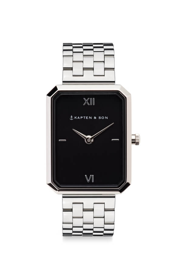 Montre Kapten & Son Grace Silver Black Steel - PRECIOVS