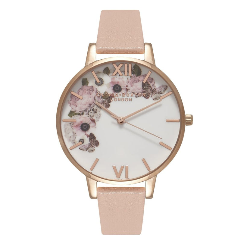 Montre Olivia Burton Enchanted Garden Dusty Pink, White & Rose Gold OB15WG10 - PRECIOVS