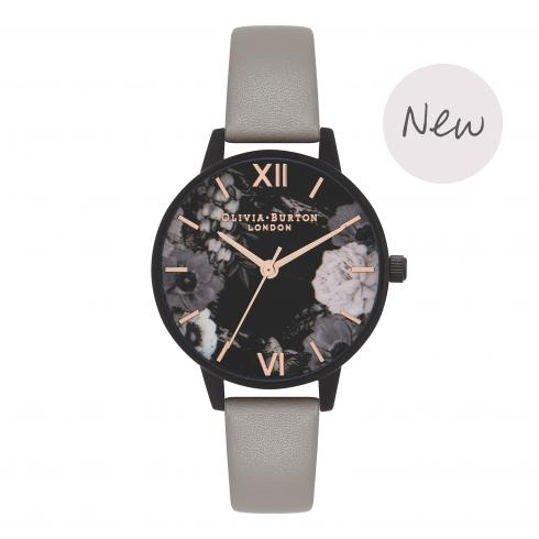 Montre Olivia Burton After Dark Grey IP Black & Rose Gold OB16AD24 - PRECIOVS
