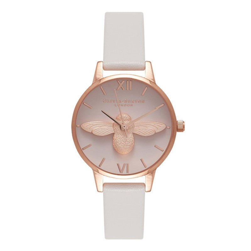 Montre Olivia Burton Moulded Bee Blush & Rose Gold Midi Watch OB16AM85