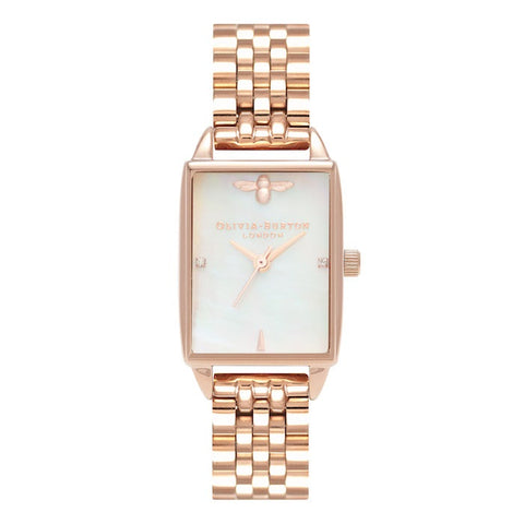 Montre Olivia Burton Bee Hive White Mother of Pearl & Rose Gold OB16BH01