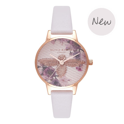 Montre Olivia Burton EMBROIDERED DIAL BLUSH & ROSE GOLD OB16EM06 - PRECIOVS