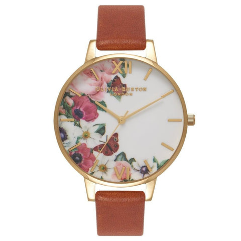 Montre Olivia Burton English Garden Brun Gold OB16ER07