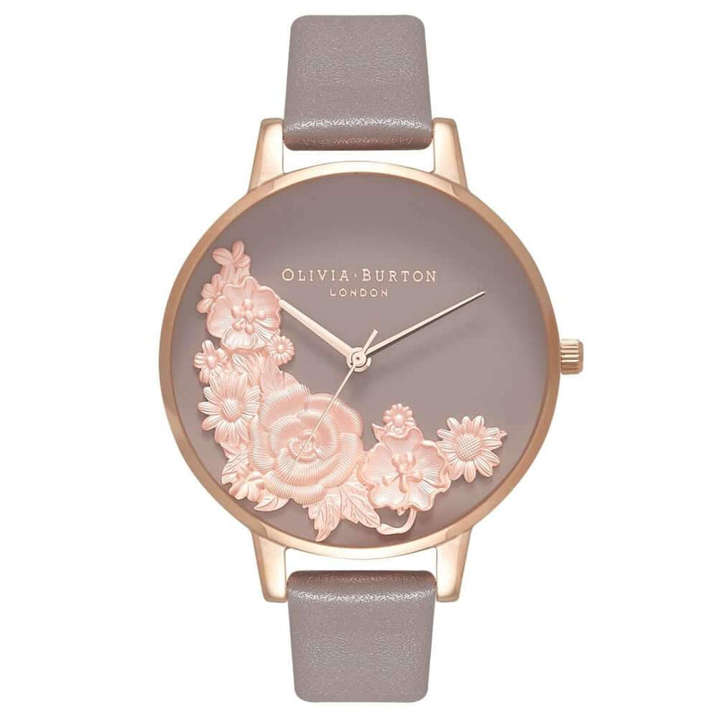 Montre Olivia Burton Floral Bouquet London Grey & Rose Gold OB16FS99 - PRECIOVS