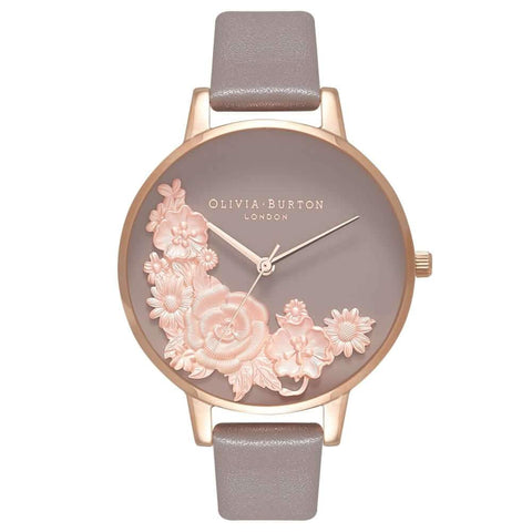 Montre Olivia Burton Floral Bouquet London Grey & Rose Gold OB16FS99