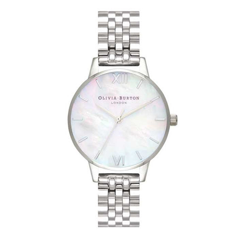 Montre Olivia Burton Mother of Pearl White Bracelet, Silver OB16MOP02