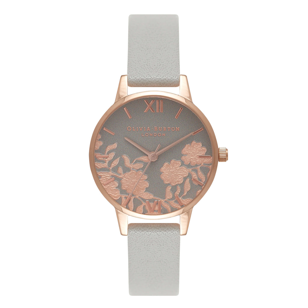 Montre Olivia Burton Lace Detail Midi Dial Grey & Rose gold