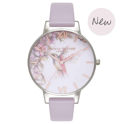 Montre Olivia Burton Painterly Prints Grey Lilac, Silver & Rose Gold OB16PP23