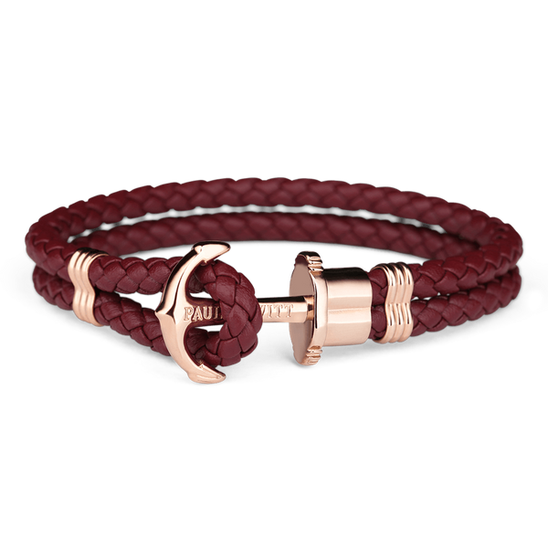 Bracelet Paul Hewitt Ancre PHREP IP Or Rosé Dark Berry - PRECIOVS