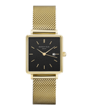 Montre Rosefield THE BOXY Noir Or Jaune QBMG-Q06