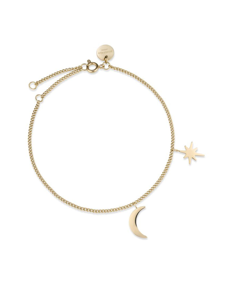 Bracelet Rosefield The Lois Moon and Star Or Jaune J234 - PRECIOVS