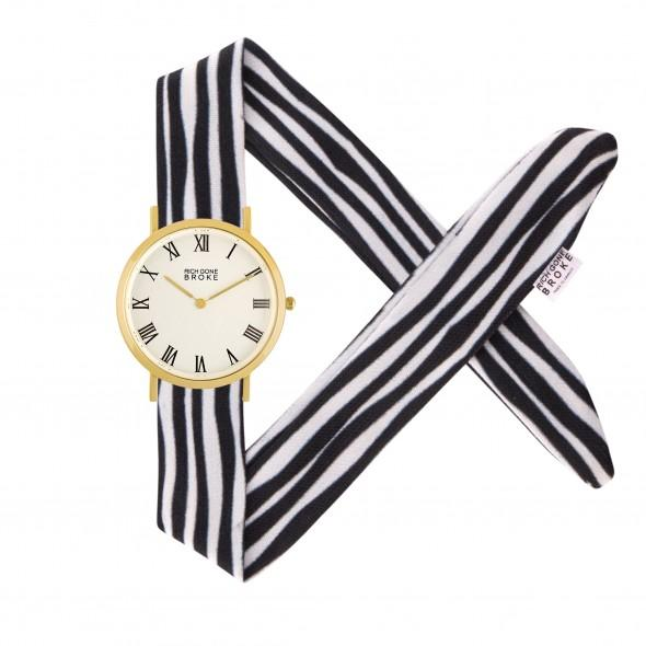 Montre RICH GONE BROKE Gold Marcel Sailor Stripes - PRECIOVS