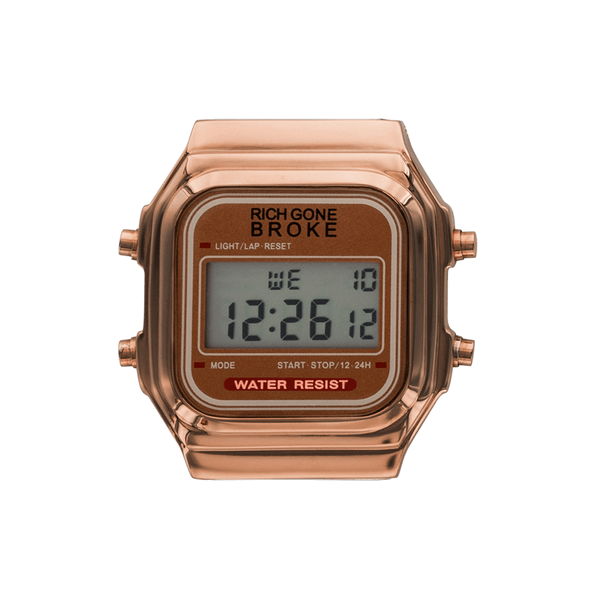 Boîtier de montre RICH GONE BROKE Rose Gold Digital - PRECIOVS