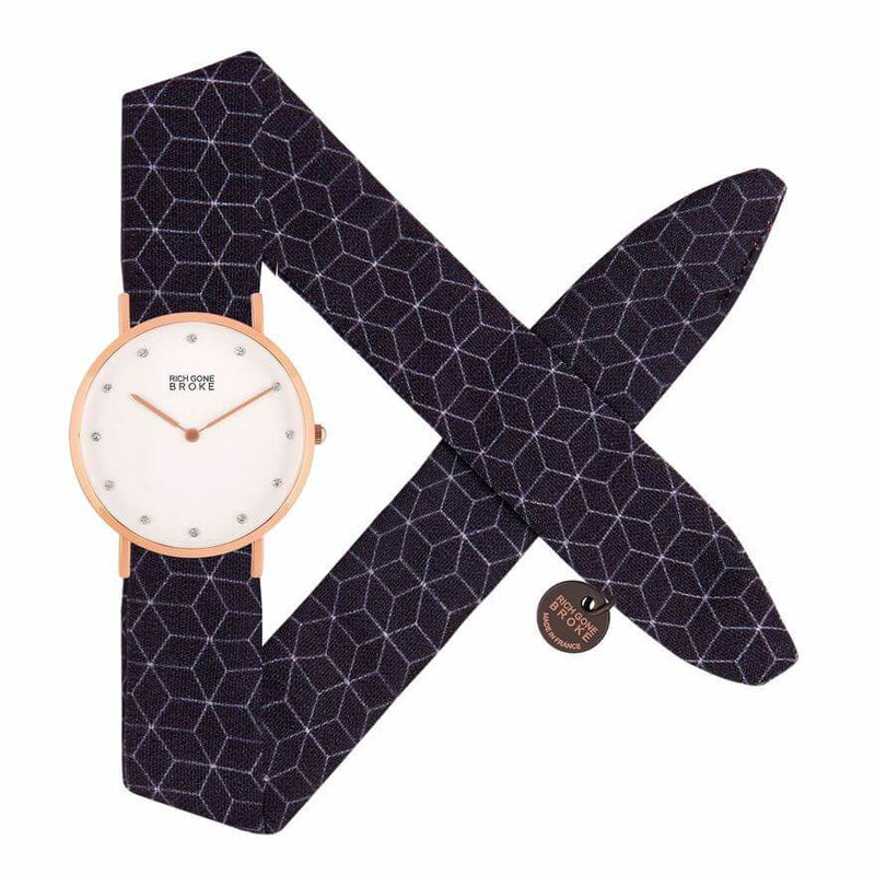 Montre RICH GONE BROKE Rose Gold Marcel Diamond Dark Graphic - PRECIOVS