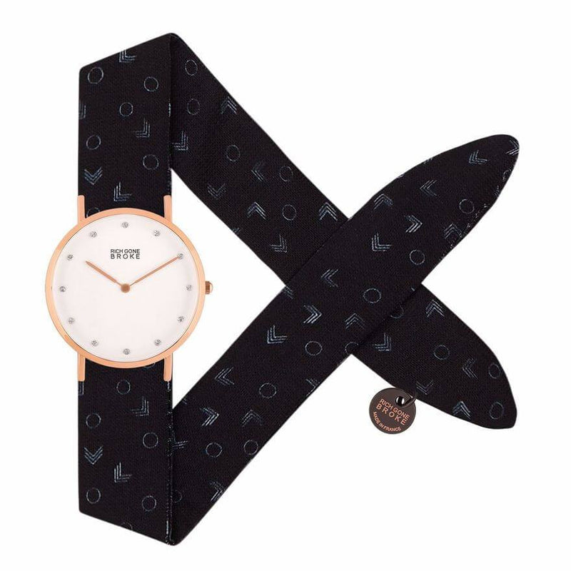 Montre RICH GONE BROKE Rose Gold Marcel Diamond Dark Triangles - PRECIOVS