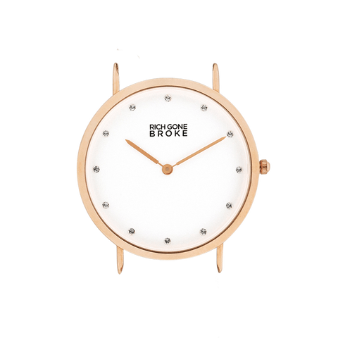 Boîtier de montre RICH GONE BROKE Rose Gold Marcel Diamond