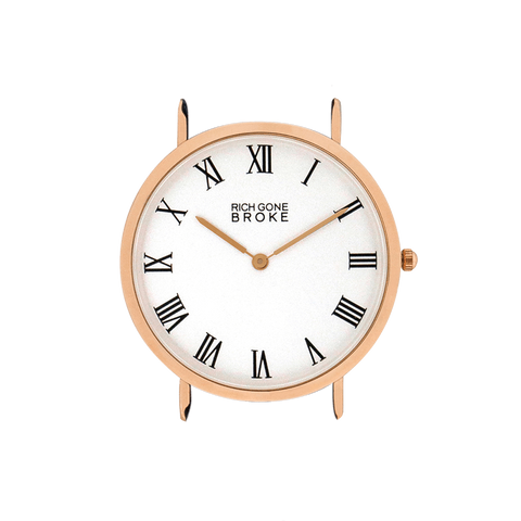 Boîtier de montre RICH GONE BROKE Rose Gold Marcel